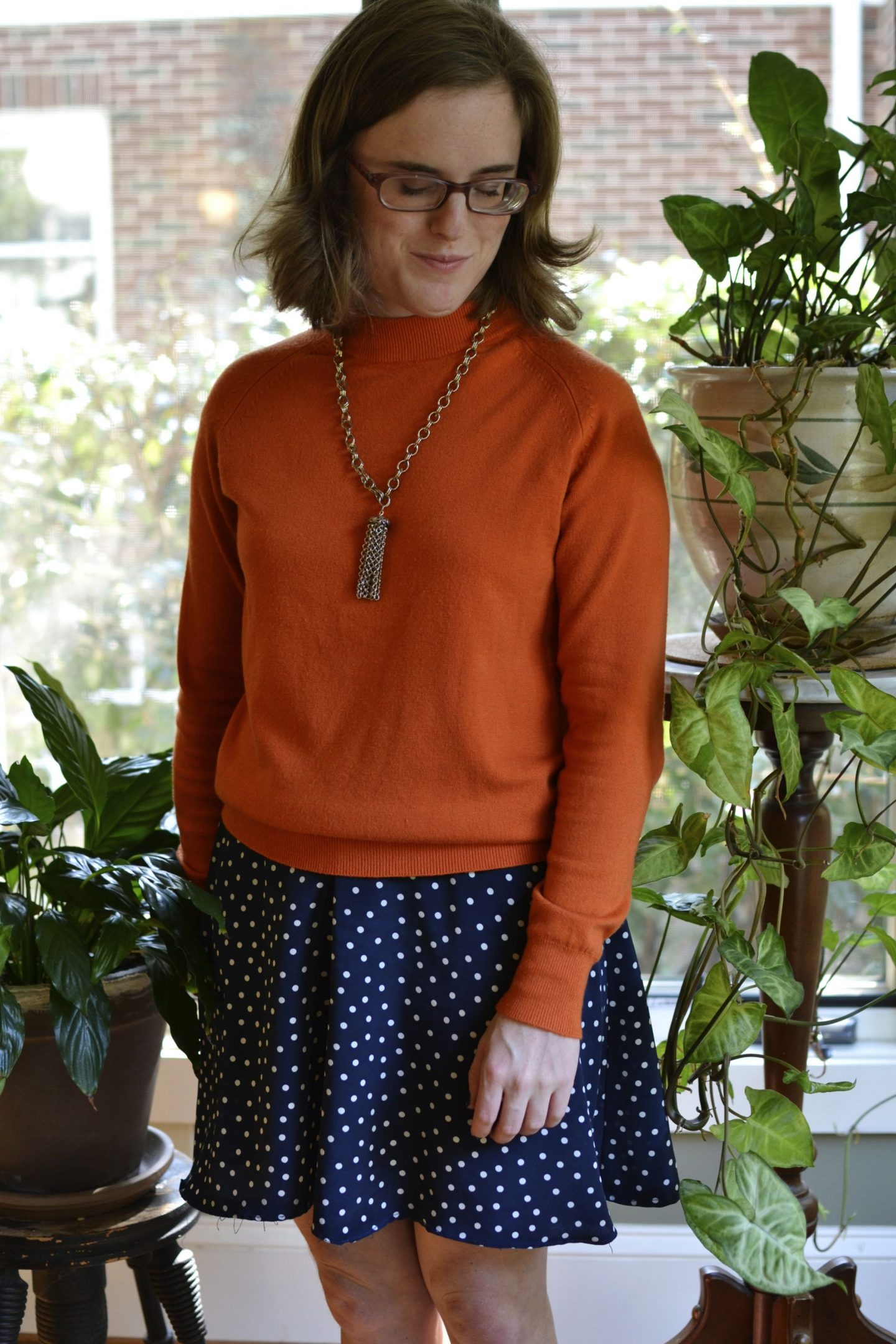 Three Ways to wear an Orange Sweater